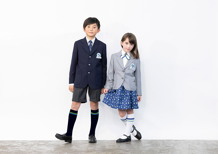 A uniform designed by Tae Ashida for the school's opening in 2020